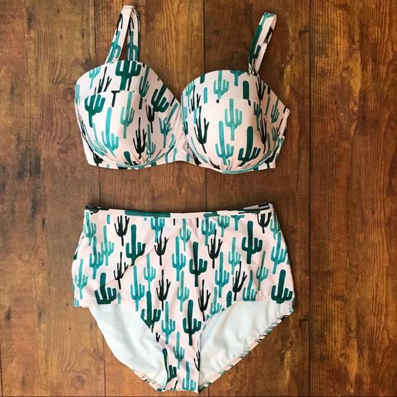 5408159f782fb Swimsuits For All Swim | Suitsforall X Gabi Fresh Pink Cactus Bikini ...